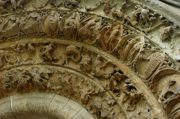 Glastonbury Abbey stonework