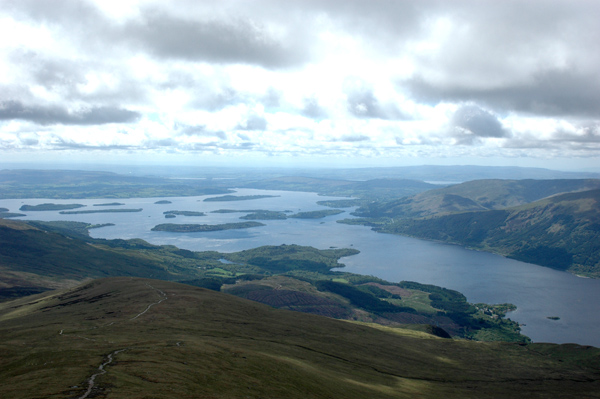 View from the top of Ben Lomond