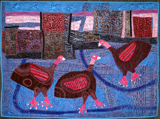 Three Guinea Fowls by Pamela Allen