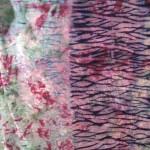 dry velvet pole wrap shibori