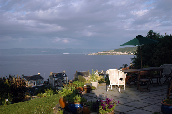 Terrace at the Munro House B&B-What a view!