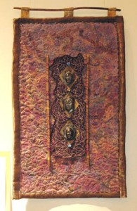 Mixed media piece by Cathy Mendola