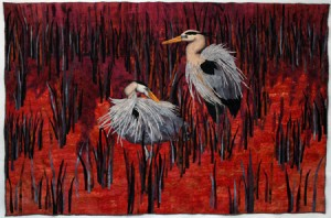 """Herons"" (c) 2008 by Tracy McCabe Stewart"